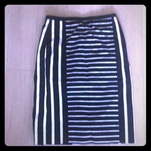 J. Crew black and white pencil skirt